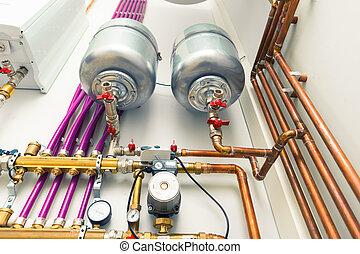 независимый, обогрев, boiler-room, система