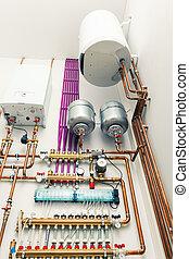 независимый, boiler-house, обогрев, система