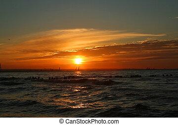 неимоверный, закат солнца
