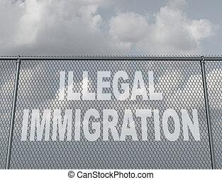 нелегальный, иммиграция