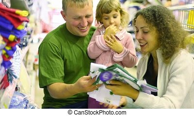 немного, семья, горшок, супермаркет, девушка, держатель, buying