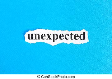 неожиданный, слово, текст, paper., порванный, концепция, образ