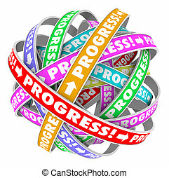 непрерывный, улучшение, цикл, вперед, прогресс, движение, бесконечный