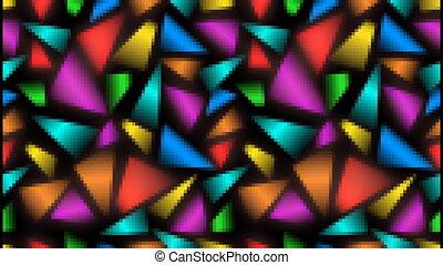 неровный, распределенный, эффект, videoabstract, многоцветный, задний план, fragments, пиксель