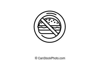 нет, бутерброд, линия, значок, альфа, канал