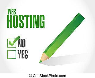 нет, web, hosting, знак, концепция, иллюстрация
