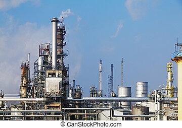 нефтехимический, промышленность, -, масло, очистительный завод