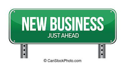 новый, бизнес, знак