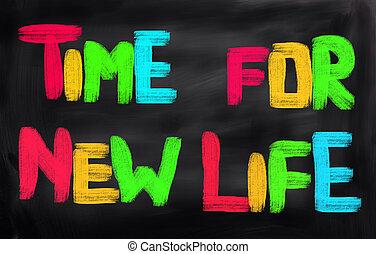 новый, жизнь, концепция