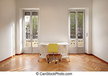 новый, квартира, современное, комната