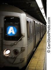 новый, поезд, йорк