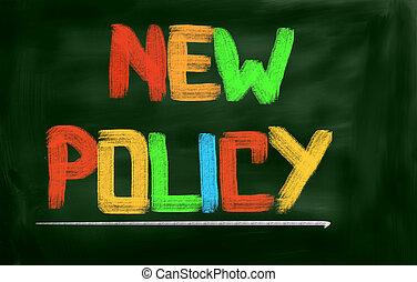 новый, политика, концепция