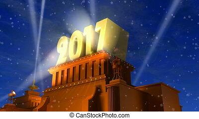 новый, 2017, концепция, год