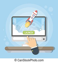 новый, business., launching