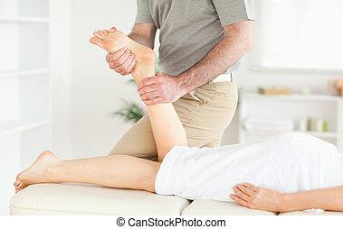 нога, женский пол, massaged, customer's, являющийся