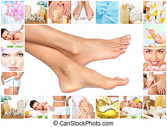 ноги, massage.