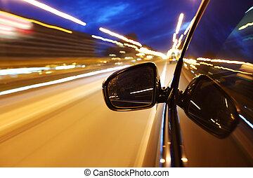 ночь, водить машину