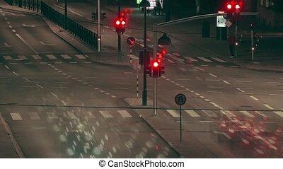 ночь, упущение, улица, трафик, время
