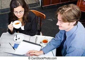 обед, бизнес, встреча