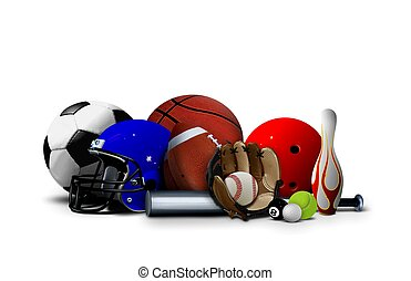 оборудование, спорт, мячи