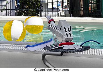 оборудование, уборка, бассейн