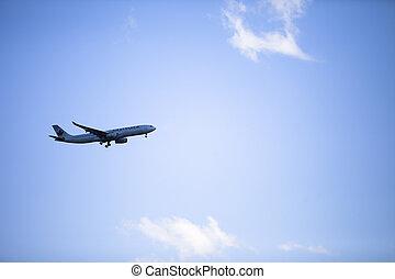 образ, коммерческая, самолет