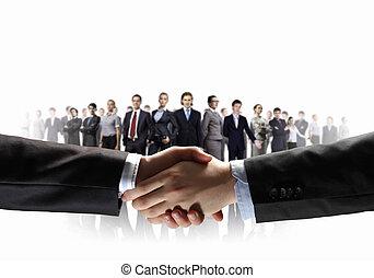образ, of, бизнес, рукопожатие