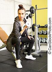 обучение, в, , gym.