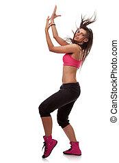 оглушающий, танцор, posing, молодой, женщина