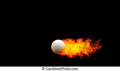 огненный шар, гольф, flames