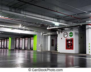 огнетушитель, дверь, огонь, стоянка, располагается, различный, lot., побег, extinguishers, types