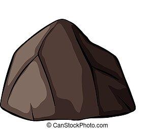 один, серый, камень