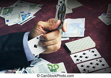 один, туз, of, spades, в, , рукав