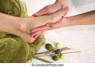оздоровительный, единственный, -, фут, состав, массаж