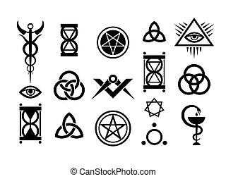 оккультный, stamps, магия, знаки