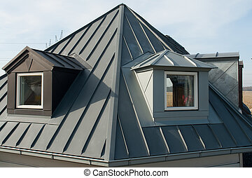 окна, современное, вертикальный, крыша