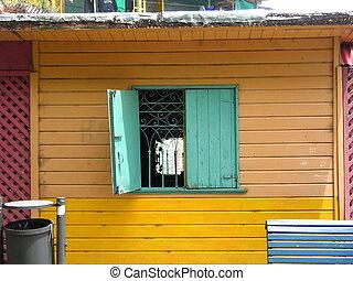 окно, открытый