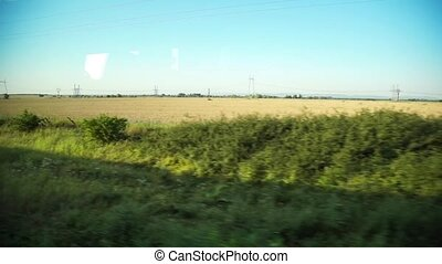 окно, посмотреть, из, поезд