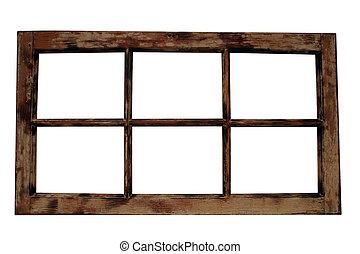 окно, рамка, weathered