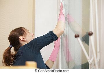 окно, уборка