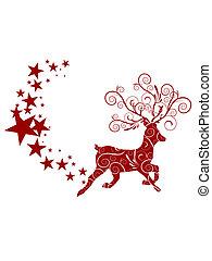 олень, рождество