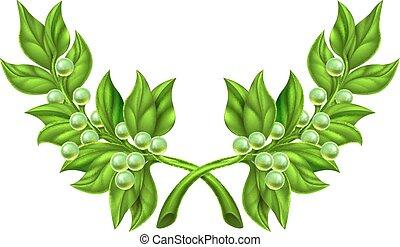 оливковый, филиал, венок