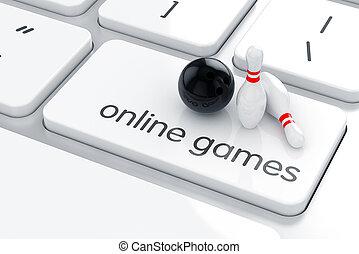 онлайн, games, концепция