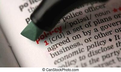 определение, of, политика