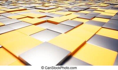 оранжевый, абстрактные, черный, boxes
