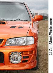 оранжевый, автомобиль