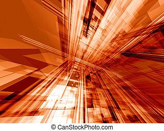 оранжевый, действие, технологии