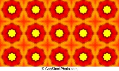 оранжевый, п, метраж, цветок, бесшовный