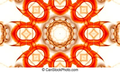оранжевый, шаблон, вращение, цветок