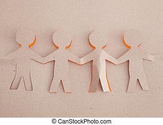 оригами, человек